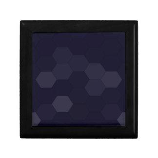 Hexagones noirs petite boîte à bijoux carrée