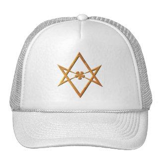 Hexagram unicursale d'or - symbole thelemic casquettes de camionneur