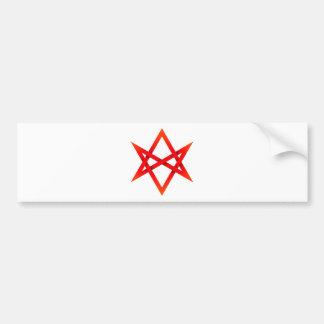 Hexagram unicursale rouge 3D Autocollant Pour Voiture
