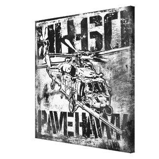 HH-60 pavent la copie de toile étirée par faucon