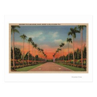 Hialeah, allée de jockey Club de la Floride - de Carte Postale