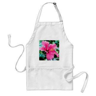 Hibiscus rose vif tablier