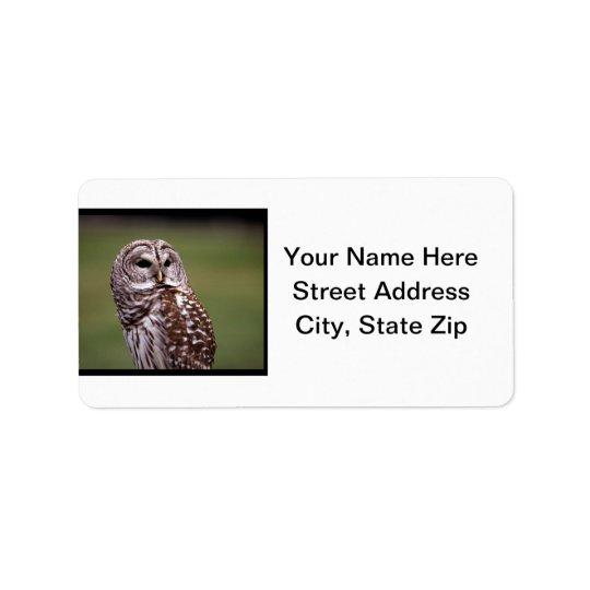Hibou (5) étiquette d'adresse