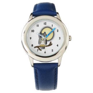 Hibou argenté mignon montres