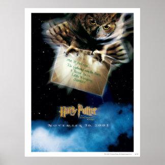 Hibou avec l'affiche de film de lettre poster