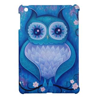 hibou bleu coques iPad mini