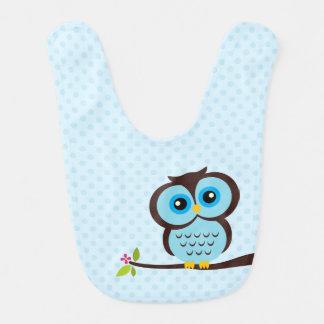 Hibou bleu mignon bavoirs pour bébé