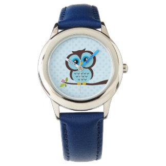 Hibou bleu mignon montres bracelet