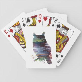 Hibou Cartes À Jouer
