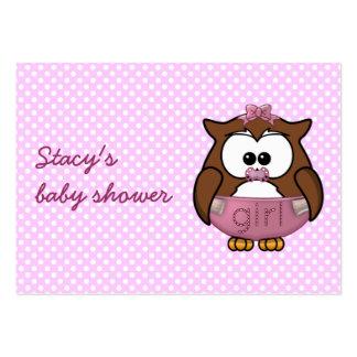 hibou de bébé carte de visite grand format