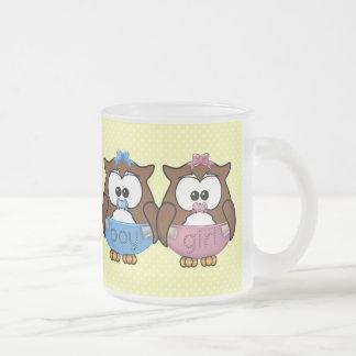 hibou de bébé de fille de n de garçon ' mugs