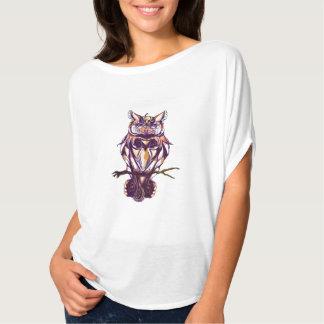 Hibou de Brown d'automne de huée T-shirt