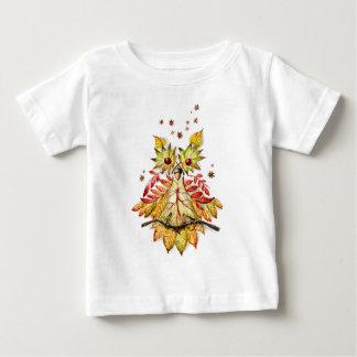 Hibou de feuillage t-shirt pour bébé