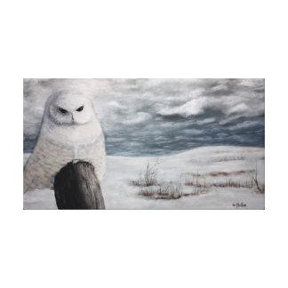 Hibou de neige sur Prarie Toiles