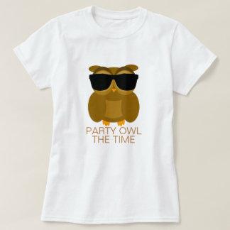 Hibou de partie le temps t-shirt