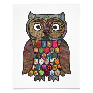 Hibou de patchwork photos sur toile
