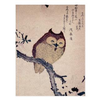 Hibou de sourire japonais mignon cartes postales