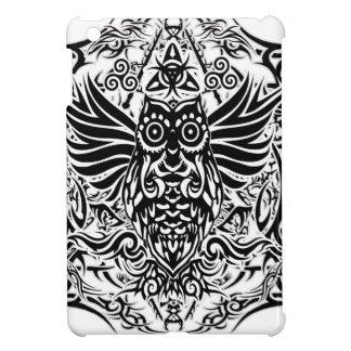 Hibou de tribal de tatouage coque iPad mini