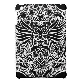 Hibou de tribal de tatouage coque pour iPad mini