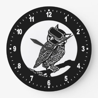 Hibou de VR Grande Horloge Ronde