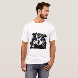 Hibou d'oeil bleu t-shirt