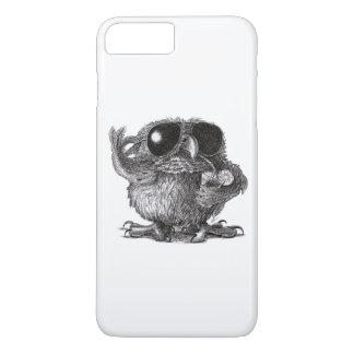 Hibou drôle de cool d'animal coque iPhone 7 plus