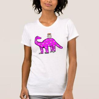 , Hibou drôle de hippie et T-shirt rose de