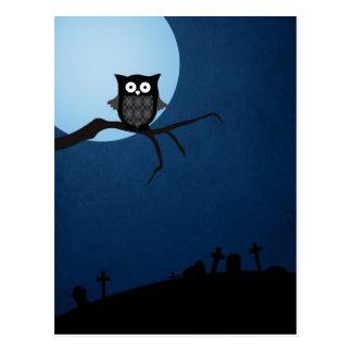 Hibou éffrayant de Halloween Cartes Postales