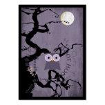 Hibou et arbre noueux déplaisant pour Halloween Cartes De Visite Personnelles