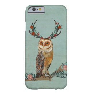 HIBOU FLORAL D'ANTLER COQUE iPhone 6 BARELY THERE