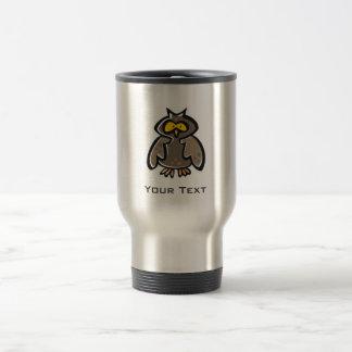 Hibou grunge mug de voyage