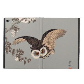 Hibou japonais de vol d'art d'impression de