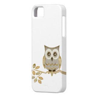 Hibou large de yeux dans le cas d'arbre coques iPhone 5 Case-Mate