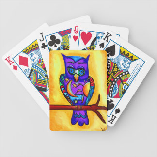 Hibou masculin pourpre jeu de cartes