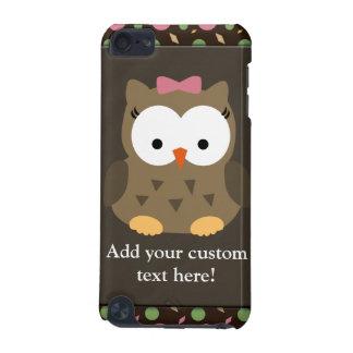 Hibou mignon de bébé avec l'arc rose coque iPod touch 5G