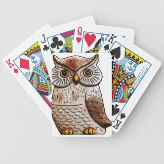 hibou mignon d'oiseau de hibou, mignon, oiseau, jeu de cartes