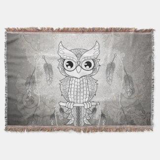 Hibou mignon en noir et blanc, conception de couverture