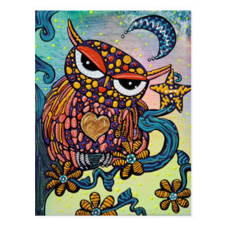 Hibou mystique carte postale