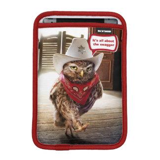 Hibou occidental dur de shérif avec l'attitude et housses iPad mini