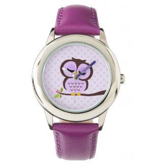 Hibou pourpre mignon montres