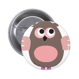 Hibou rose drôle badges