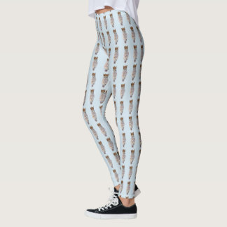 Hibou royal #1 leggings