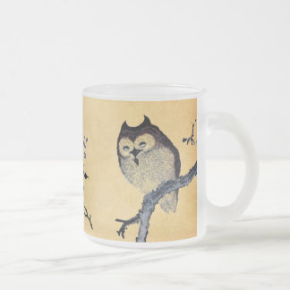 Hibou somnolent vintage tasse à café