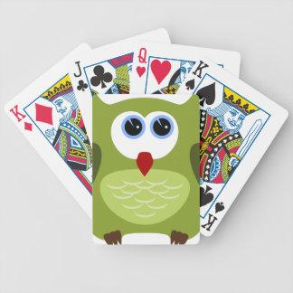 Hibou vert jeu de cartes