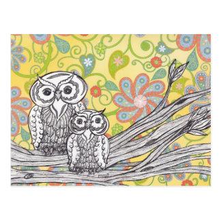 Hiboux 03 carte postale
