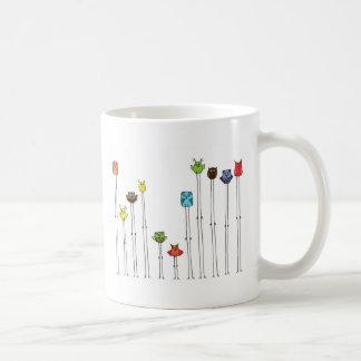 Hiboux dans Multicolors Tasse À Café