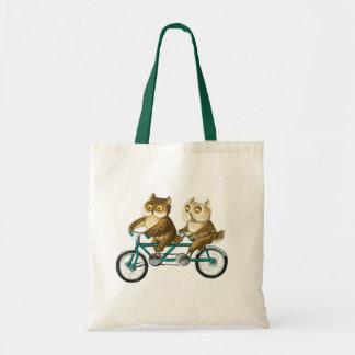 Hiboux de bicyclette sac en toile budget