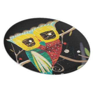 Hiboux d'Owlies de hibou Assiettes Pour Soirée