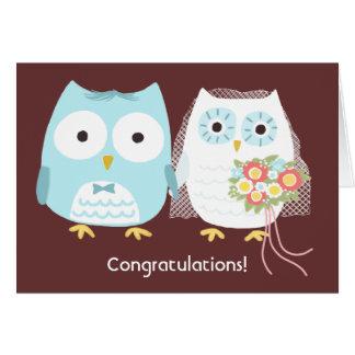 Hiboux heureusement pour toujours, épousant des carte de vœux