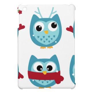 Hiboux merveilleux bleus sur le blanc coque iPad mini